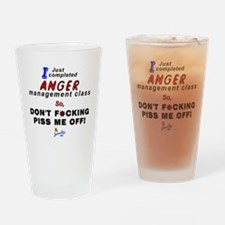 Anger Drinking Glass