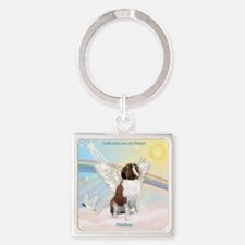 T2-Clouds - Rufus Square Keychain