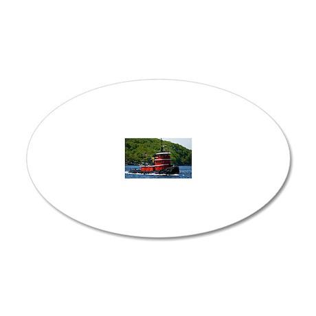 (3) sub tug 20x12 Oval Wall Decal