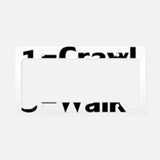 CrawlSkiWalk License Plate Holder