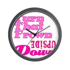 frown upside down Wall Clock