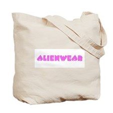 Pretty in Pink Alien Face Tote Bag
