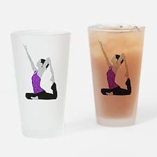 Yoga Pose Drinking Glass