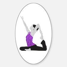Yoga Pose Sticker (Oval)