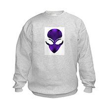 Purple Passion Alien Face Sweatshirt