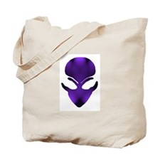 Purple Passion Alien Face Tote Bag