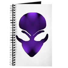 Purple Passion Alien Face Journal