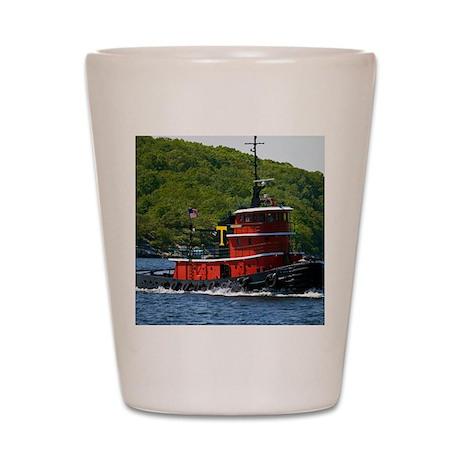 (14) sub tug Shot Glass