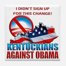 Kentuckians Against Obama Tile Coaster