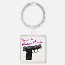 femprotect10x10_apparel copy Square Keychain
