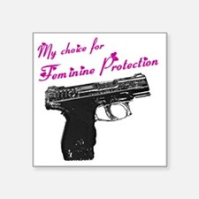 "femprotect10x10_apparel cop Square Sticker 3"" x 3"""