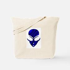 Black N Blue Alien Face Tote Bag