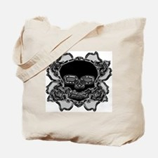 CHROME ROSE SKULL Tote Bag
