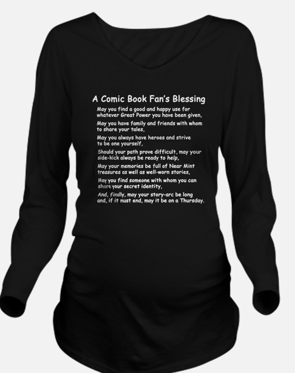 comicbookfanblessing Long Sleeve Maternity T-Shirt