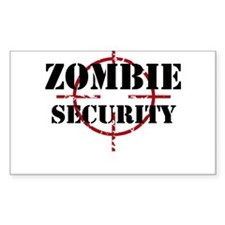 Zombie Security Decal