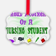 Proud Mother Nursing Student Equi Ornament