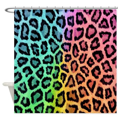 Rainbow Leopard Shower Curtain By Myplacedesigns