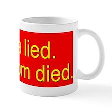 obama lied sickle8.31x3_bev  Mug