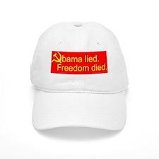 Obama lied sickle10x10_apparel Baseball Cap