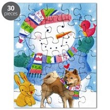 finnish spitz greeting card xmas Puzzle