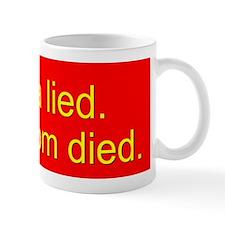 Obama Lied sickle 10x3_b sticker Mug