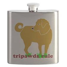 Golden Tripawds Rule - Rear Leg Flask