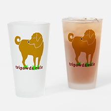 Golden Tripawds Rule - Rear Leg Drinking Glass