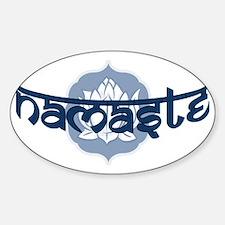 Namaste Lotus - Blue Decal