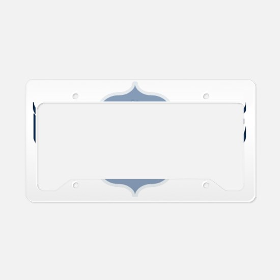 Namaste Lotus - Blue License Plate Holder