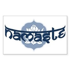 Namaste Lotus - Blue Decal