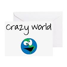 CrazyWorld Greeting Card