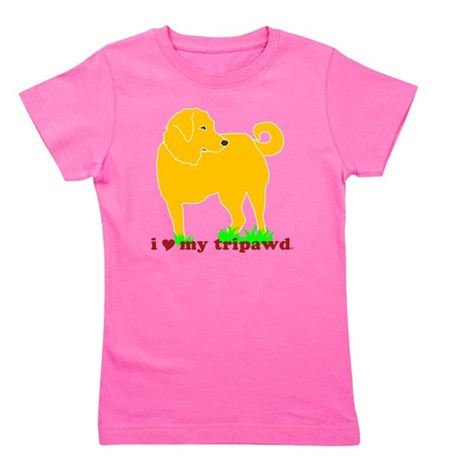 I Love My Tripawd Golden - Front Leg Girl's Tee