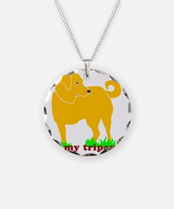 I Love My Tripawd Golden - F Necklace