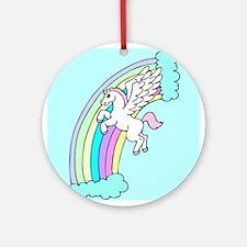 Retro Pegasus Ornament (Round)