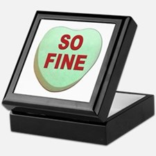 So Fine Valentine Candy Heart Keepsake Box