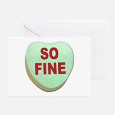 So Fine Valentine Candy Heart Greeting Cards (Pack