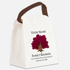 Purple Tree Family Reunion Canvas Lunch Bag