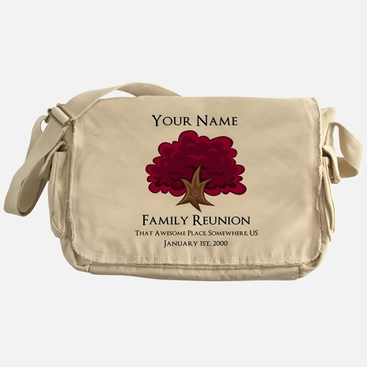 Purple Tree Family Reunion Messenger Bag