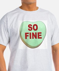 So Fine Valentin Candy Heart (Front) Ash Grey T-Sh