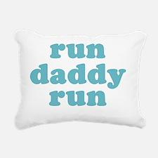 rundadyrun_blue2 Rectangular Canvas Pillow