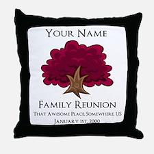 Purple Tree Family Reunion Throw Pillow