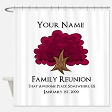 Purple Tree Family Reunion Shower Curtain
