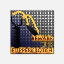 "2-Flippercrotch Square Sticker 3"" x 3"""