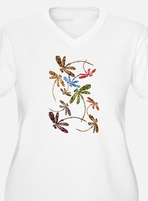 Dragonfly Pop Plus Size T-Shirt