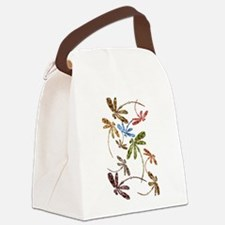 Dragonfly Pop Canvas Lunch Bag