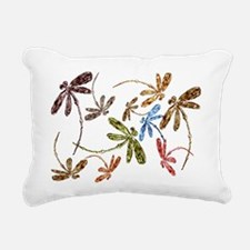 Dragonfly Pop Rectangular Canvas Pillow