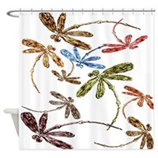 Dragonfly Pop Shower Curtain