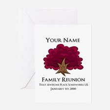 Purple Tree Family Reunion Greeting Cards