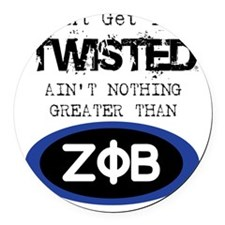 AINT NOTHIN GREATER ZETA Round Car Magnet