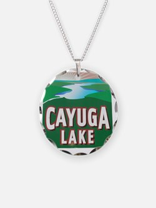 2-Cayuga Lake road sign Necklace